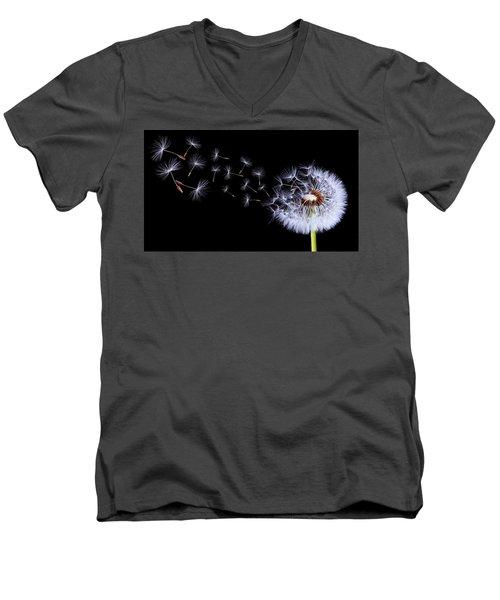 Silhouettes Of Dandelions Men's V-Neck T-Shirt