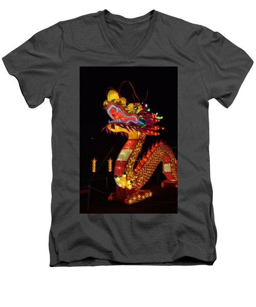 Silk Dragon Men's V-Neck T-Shirt
