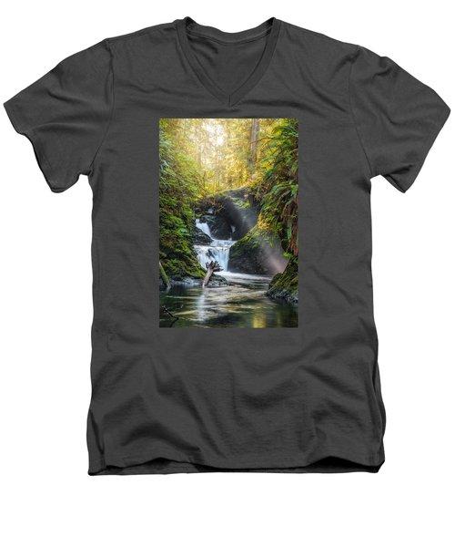 Silk Steps Men's V-Neck T-Shirt by James Heckt
