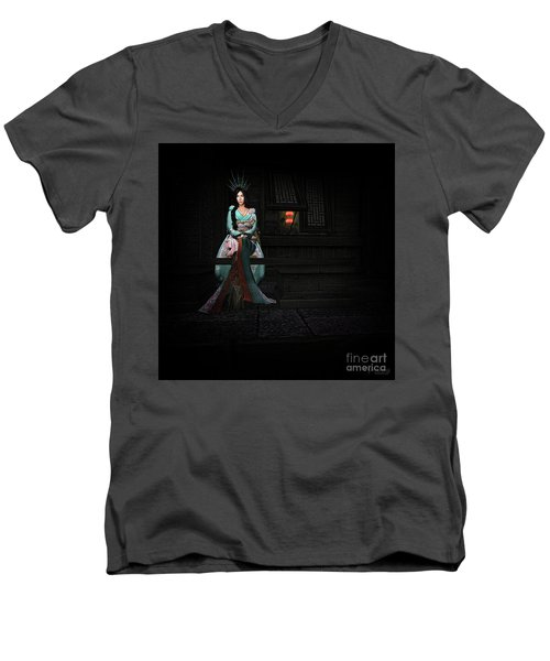 Silks And Parasols 3 Men's V-Neck T-Shirt