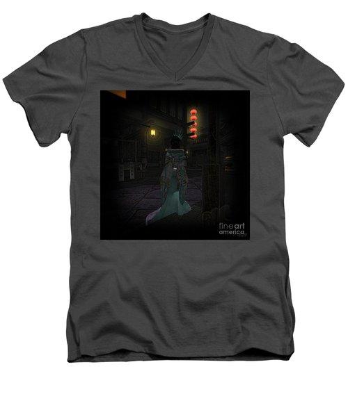 Silks And Parasols 4 Men's V-Neck T-Shirt
