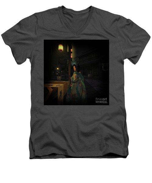 Silks And Parasols 5 Men's V-Neck T-Shirt