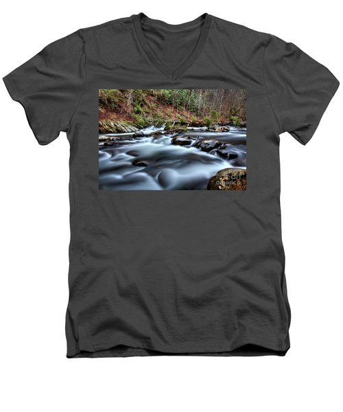 Men's V-Neck T-Shirt featuring the photograph Silky Smooth by Douglas Stucky