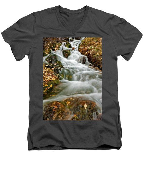 Silky Waterfall Men's V-Neck T-Shirt