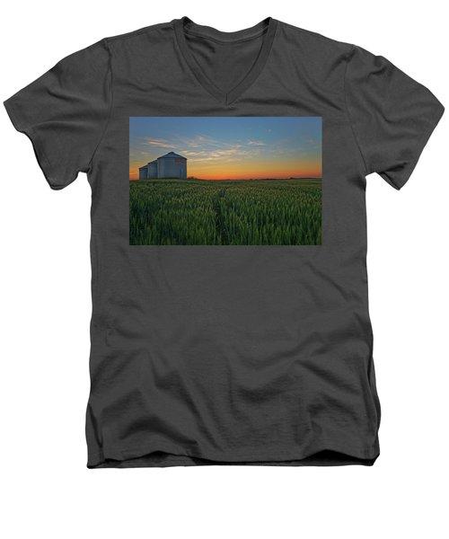 Silos At Sunset Men's V-Neck T-Shirt