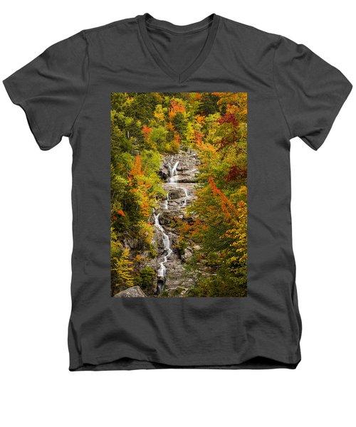 Silver Cascade Men's V-Neck T-Shirt