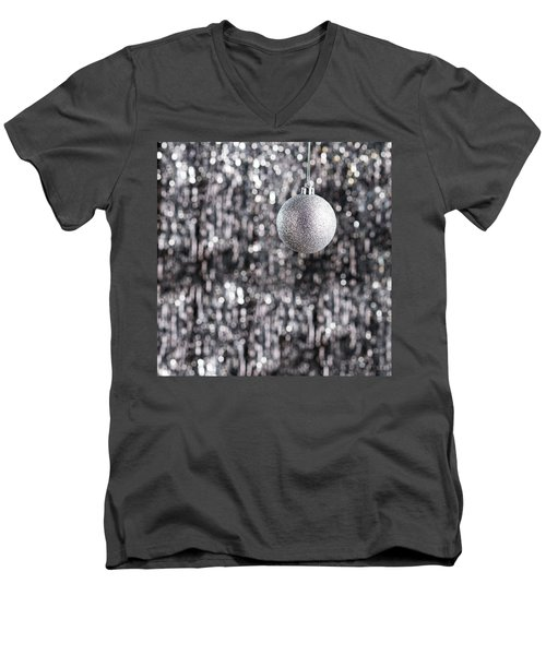 Men's V-Neck T-Shirt featuring the photograph Silver Christmas by Ulrich Schade