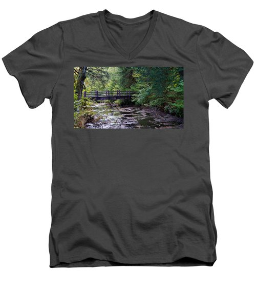 Silver Creek Falls #38 Men's V-Neck T-Shirt