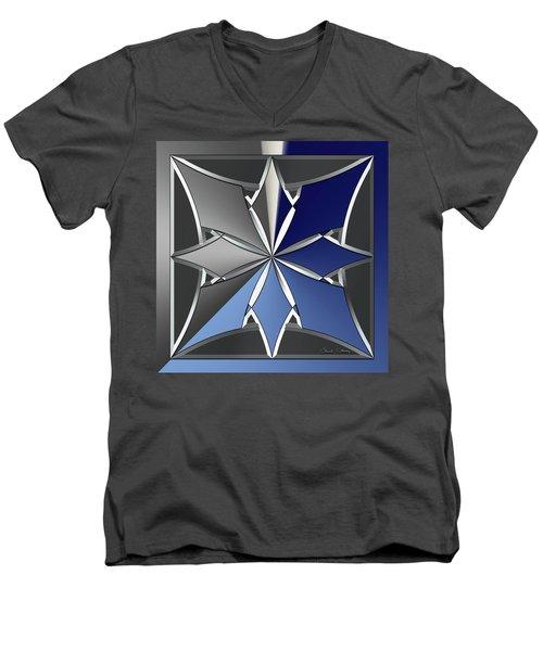 Silver Design 1 Men's V-Neck T-Shirt