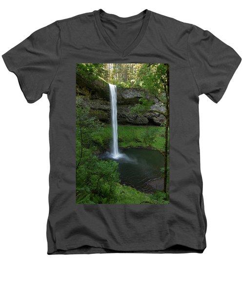 Silver Falls Silver Mist Men's V-Neck T-Shirt