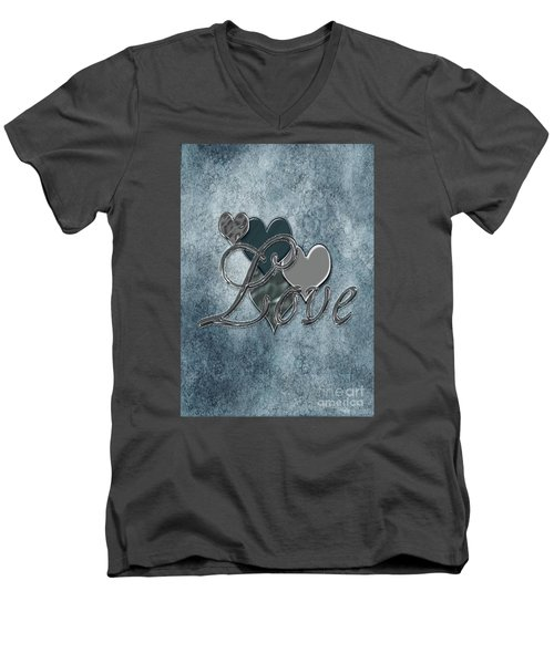 Silver Love Men's V-Neck T-Shirt