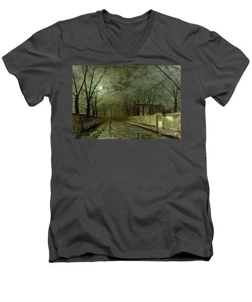 Silver Moonlight Men's V-Neck T-Shirt