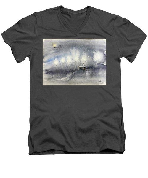 Silver Night Men's V-Neck T-Shirt