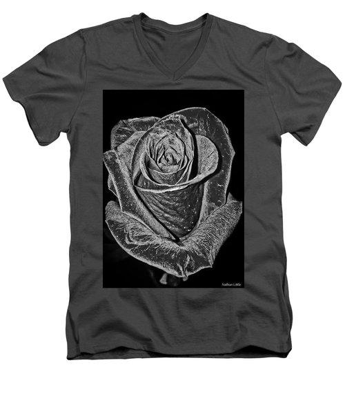 Silver Rose Men's V-Neck T-Shirt