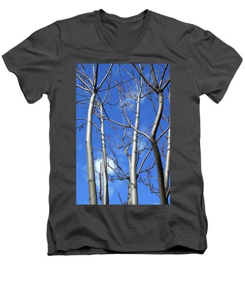 Silver Smooth Men's V-Neck T-Shirt