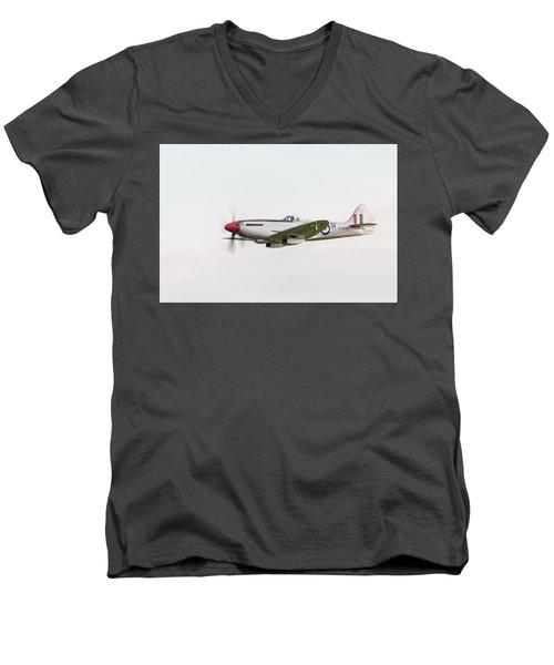 Silver Spitfire Fr Xviiie Men's V-Neck T-Shirt