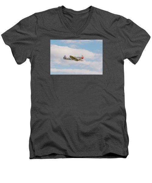 Silver Spitfire Men's V-Neck T-Shirt by Gary Eason