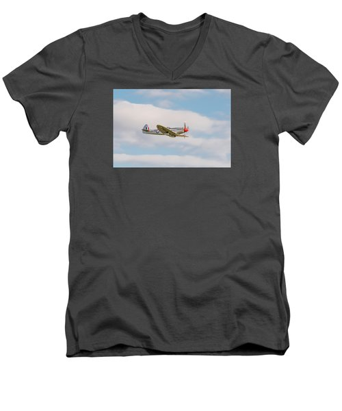Silver Spitfire Men's V-Neck T-Shirt