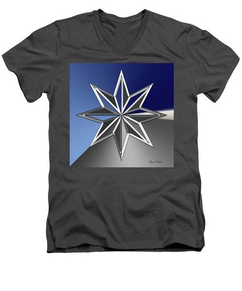 Silver Star Men's V-Neck T-Shirt