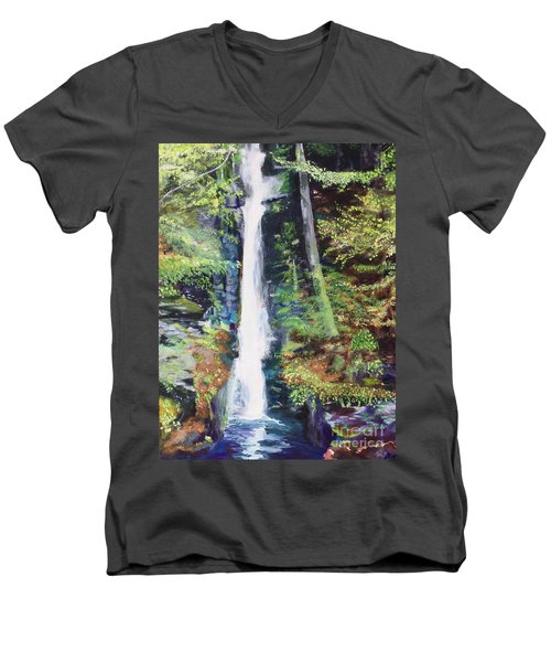 Silver Thread Falls Men's V-Neck T-Shirt