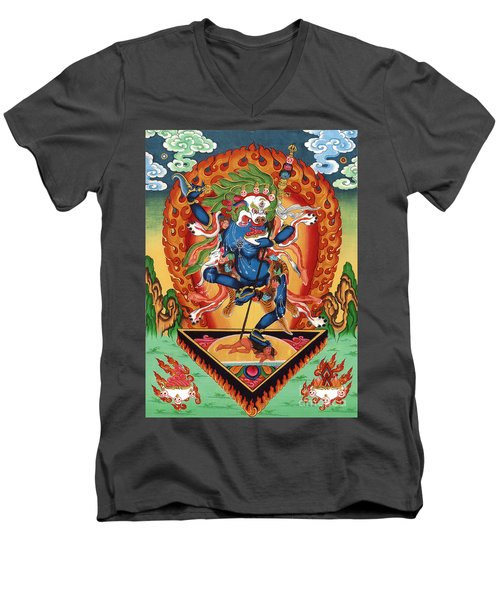 Simhamukha - Lion Face Dakini Men's V-Neck T-Shirt