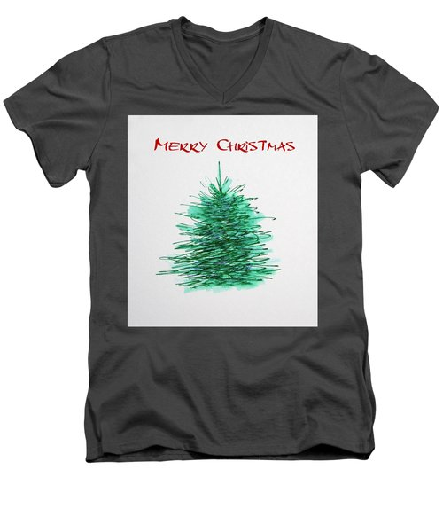 Simple Christmas  Men's V-Neck T-Shirt by Marna Edwards Flavell
