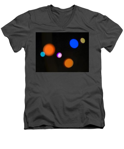 Simple Circles Men's V-Neck T-Shirt by Susan Stone