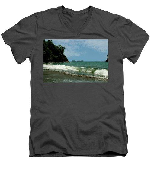 Simple Costa Rica Beach Men's V-Neck T-Shirt