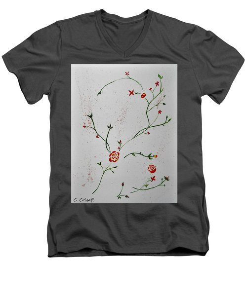 Simple Flowers #1 Men's V-Neck T-Shirt
