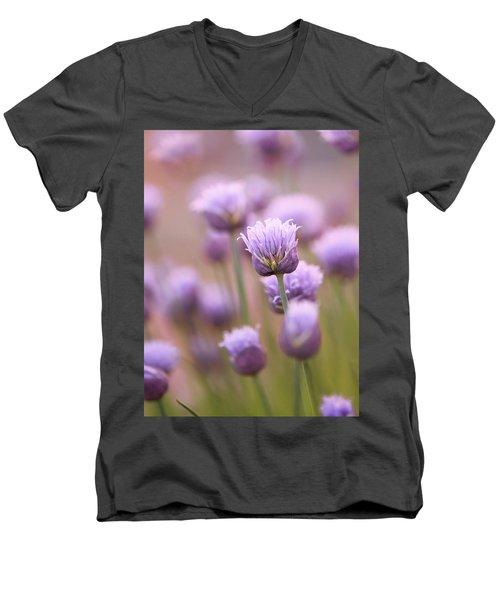 Simple Flowers Men's V-Neck T-Shirt