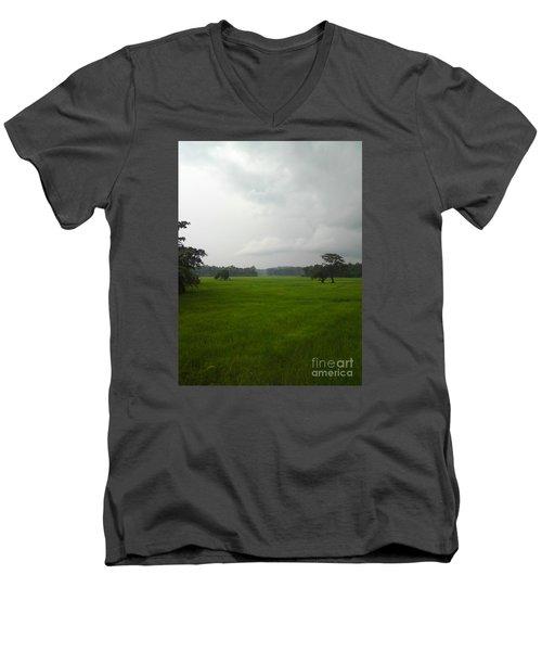Simple Green Men's V-Neck T-Shirt