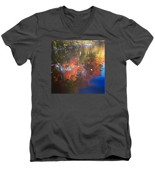 Simply Sensations Seasonal Swirls Men's V-Neck T-Shirt by Jason Nicholas