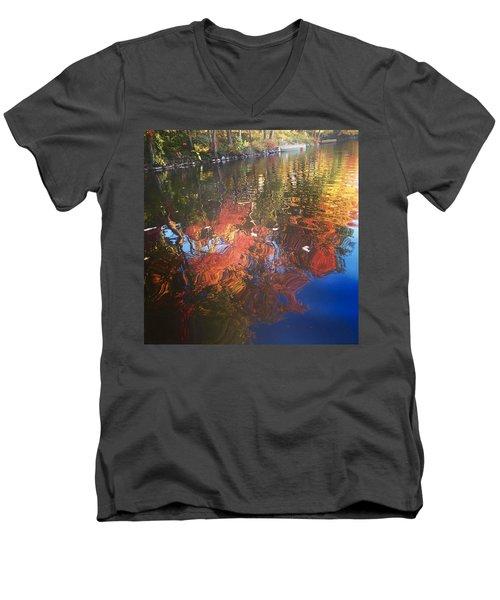 Simply Sensations Seasonal Swirls Men's V-Neck T-Shirt