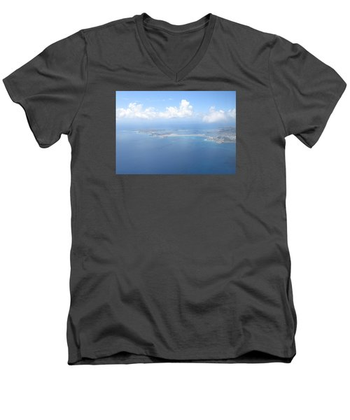 Simpson Bay St. Maarten Men's V-Neck T-Shirt by Christopher Kirby