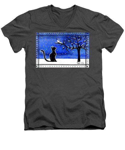 Sing For Me - Black Cat Card Men's V-Neck T-Shirt