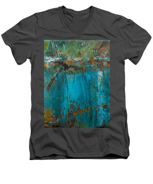 Singin' With Blues Men's V-Neck T-Shirt by Mary Sullivan