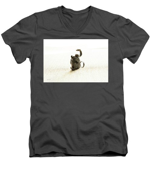 Single And Open Men's V-Neck T-Shirt