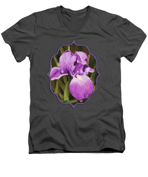 Single Iris Men's V-Neck T-Shirt by Anastasiya Malakhova