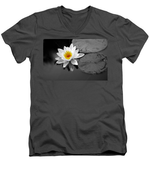 Men's V-Neck T-Shirt featuring the photograph Single Lily by Shari Jardina