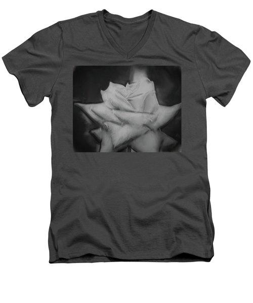 Single Rose Men's V-Neck T-Shirt