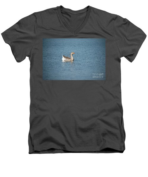 Single Swimmer Men's V-Neck T-Shirt