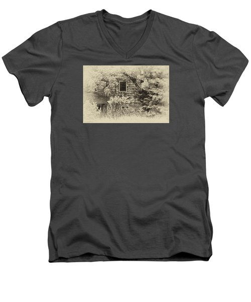 Single View Men's V-Neck T-Shirt by Tamera James