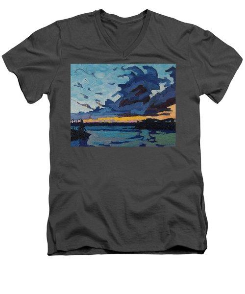 Singleton Sunset Stratocumulus Men's V-Neck T-Shirt