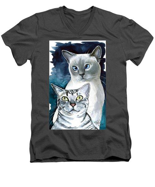 Sini And Nimbus - Cat Portraits Men's V-Neck T-Shirt