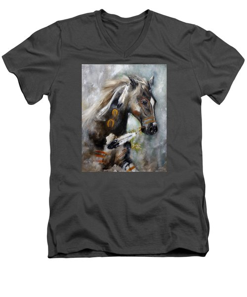 Sioux War Pony Men's V-Neck T-Shirt by Barbie Batson