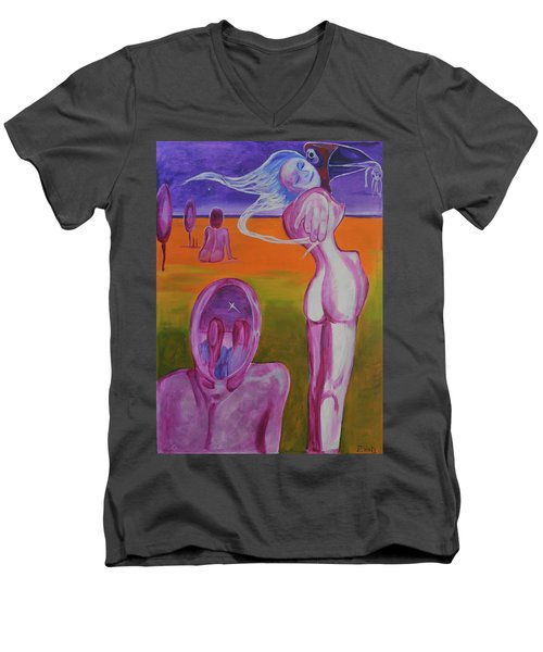 Sirens Men's V-Neck T-Shirt by Christophe Ennis