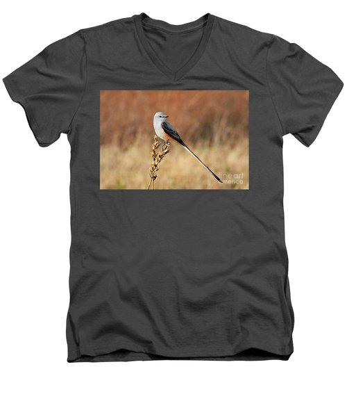 Sissor-tailed Flycatcher 2 Men's V-Neck T-Shirt