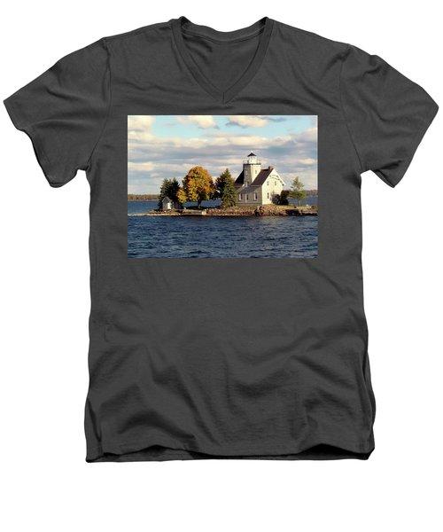 Sister Island Lighthouse Men's V-Neck T-Shirt