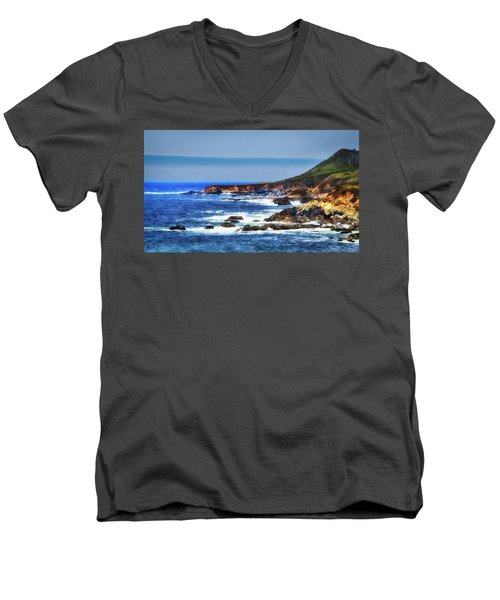 Sit And Stare Beach Men's V-Neck T-Shirt by Joseph Hollingsworth
