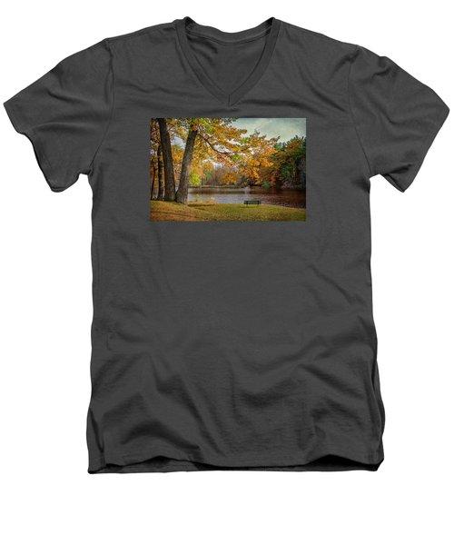 Sittin On The Banks Men's V-Neck T-Shirt